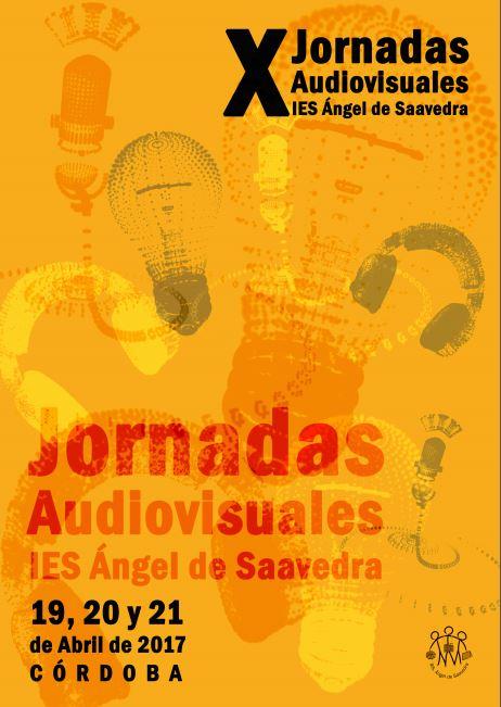Cartel X Jornadas Audiovisuales Ies Ángel de Saavedra