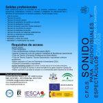 Folleto de Sonido para Audiovisuales y Espectáculos - Exterior