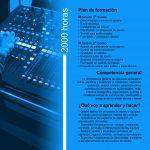 Folleto de Sonido para Audiovisuales y Espectáculos - Interior